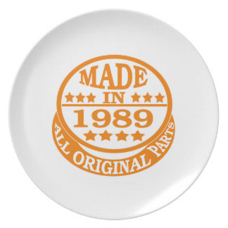 Made in 1989 all original parts plates