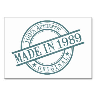 Made in 1989 card