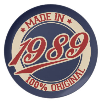 Made In 1989 Plate