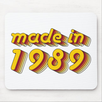 Made in 1989 (Yellow&Red) Mouse Pad