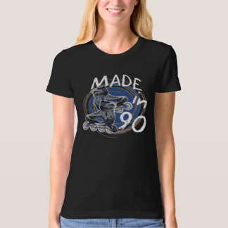 MADE in 1990 ROLLER Blade Inspired Birthday TEE