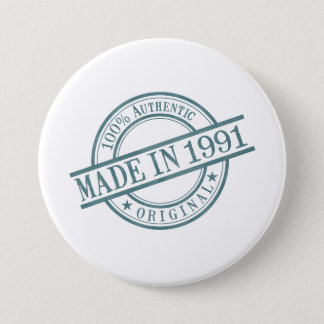 Made in 1991 pinback button