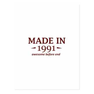 Made in 1991 postcard