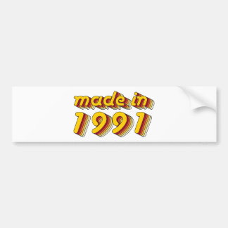 Made in 1991 (Yellow&Red) Bumper Sticker