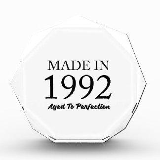 Made In 1992 Acrylic Award
