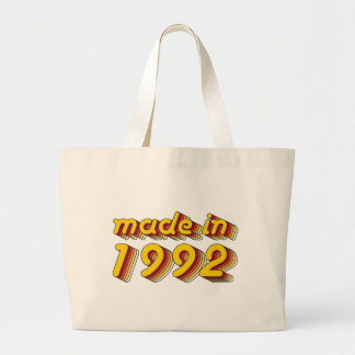 Made in 1992 (Yellow&Red) Large Tote Bag