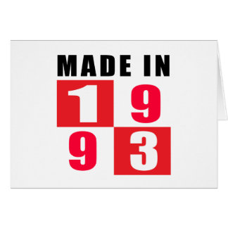 Made In 1993 Birthday Designs Greeting Card