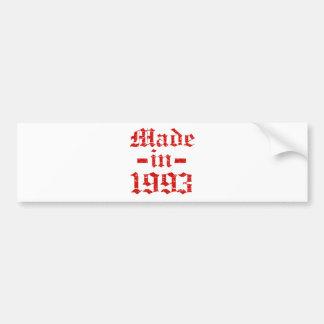 Made in 1993 designs bumper sticker