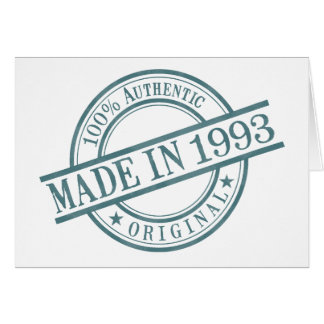 Made in 1993 stationery note card