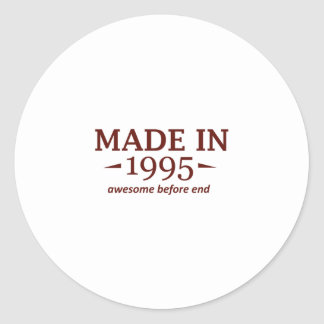 Made in 1995 classic round sticker