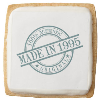 Made in 1995 square shortbread cookie