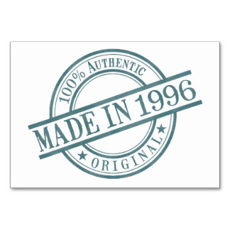 Made in 1996 card