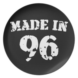 Made In 1996 Plates