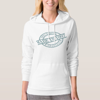 Made in 1997 Stamp Style Logo Women's Hoodie