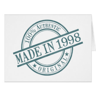 Made in 1998 large greeting card