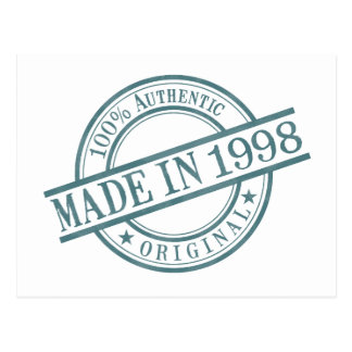 Made in 1998 postcard