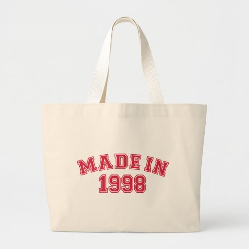Made in 1998 tote bags