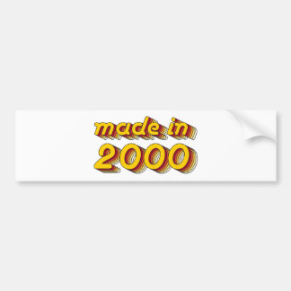 Made in 2000 (Yellow&Red) Bumper Sticker