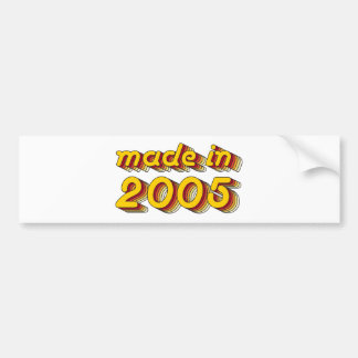 Made in 2005 (Yellow&Red) Bumper Sticker