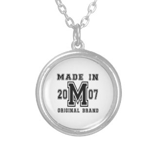 MADE IN 2007 ORIGINAL BRAND BIRTHDAY DESIGNS SILVER PLATED NECKLACE