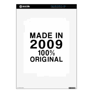 Made In 2009 Decal For iPad 2