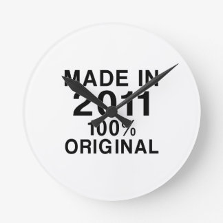Made In 2011 Round Clock