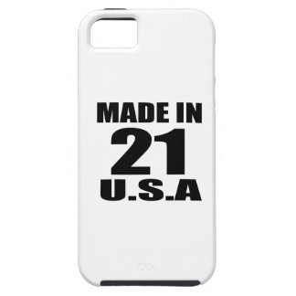 MADE IN 21 U.S.A BIRTHDAY DESIGNS iPhone SE/5/5s CASE