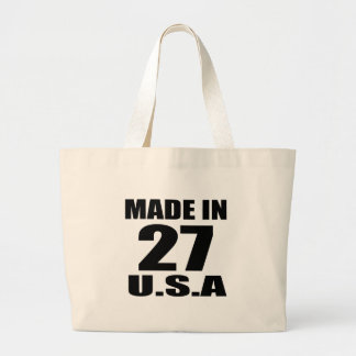 MADE IN 27 U.S.A BIRTHDAY DESIGNS LARGE TOTE BAG