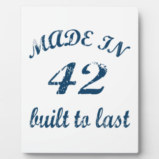 Made In 42 Photo Plaques