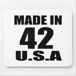 MADE IN 42 U.S.A BIRTHDAY DESIGNS MOUSE PAD