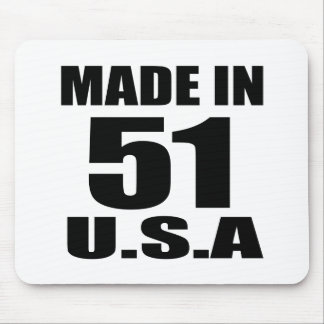 MADE IN 51 U.S.A BIRTHDAY DESIGNS MOUSE PAD