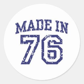 Made In 76 Classic Round Sticker
