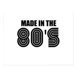 made in 80's postcard