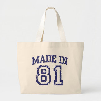 Made in 81 tote bags