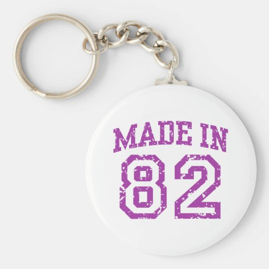 Made in 82 keychain