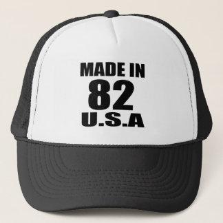 MADE IN 82 U.S.A BIRTHDAY DESIGNS TRUCKER HAT