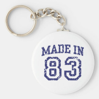 Made in 83 keychain