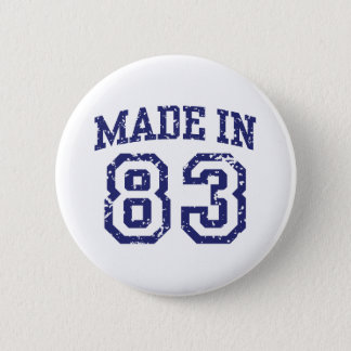 Made in 83 pinback button