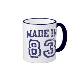 Made in 83 ringer coffee mug