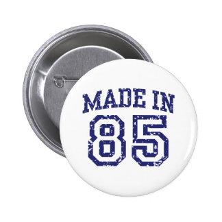 Made in 85 2 inch round button
