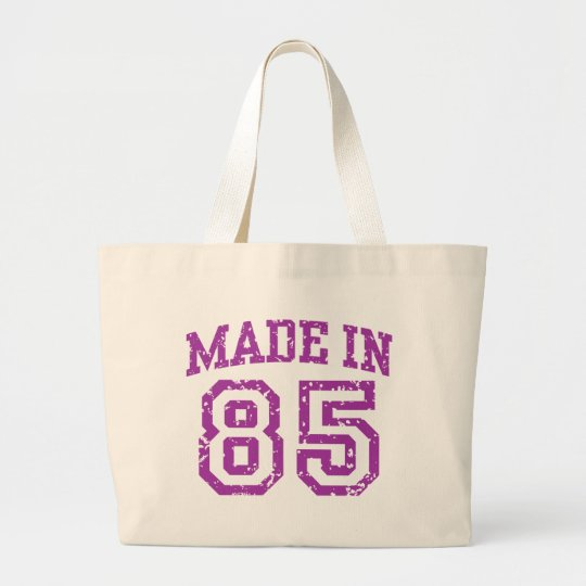 Made in 85 large tote bag