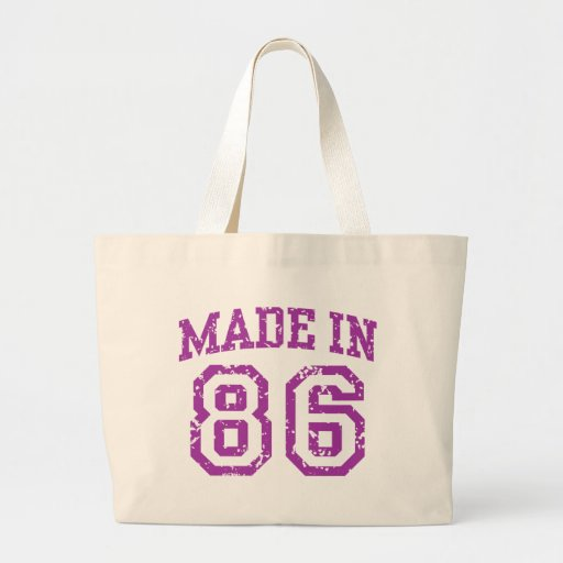 Made in 86 tote bags