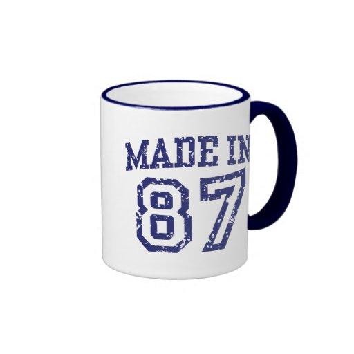 Made in 87 ringer coffee mug