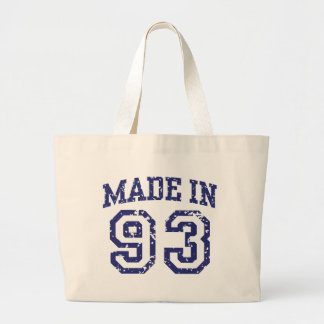 Made in 93 large tote bag