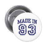Made in 93 pinback button