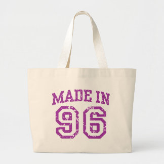 Made in 96 large tote bag