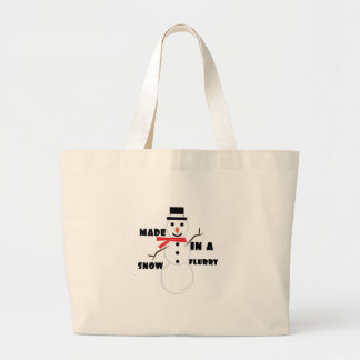 Made In A Snow Flurry Tote Bags