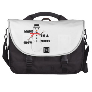 Made In A Snow Flurry Laptop Messenger Bag