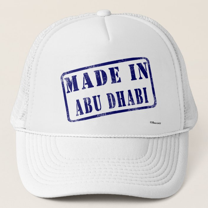 Made in Abu Dhabi Hat