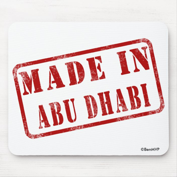 Made in Abu Dhabi Mouse Pad